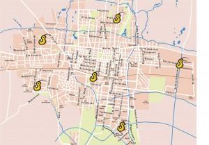 Карта эвакуаторов по Бишкеку